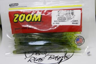 Zoom Finesse Worm Watermelon Chartreuse-2