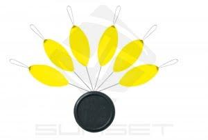 Perla-Flotante-oval Sunset amarilla