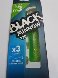 Black Minnow 120 3 cuerpos Color Chartreuse-1